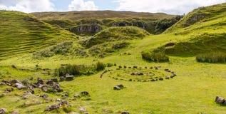 Romantische Feenauwe vallei Royalty-vrije Stock Fotografie