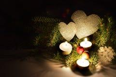 Romantische Feiertagszusammensetzung in der ländlichen Art Lizenzfreies Stockbild