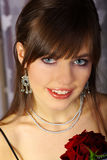 Romantische Frau des Portraits Lizenzfreie Stockbilder