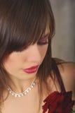 Romantische Frau des Portraits Stockfoto