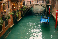 Romantische Gaststätte in Venedig Stockfotos
