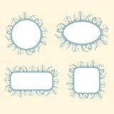 Romantische geplaatste frames Royalty-vrije Stock Fotografie