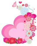 Romantische groet Stock Afbeeldingen