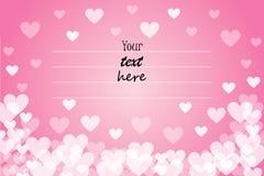 Romantische groetkaart met een plaats voor het texting Stock Fotografie