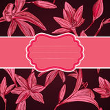 Romantische Grußkarte mit Blumen mit Raum für Ihren Text. VE stock abbildung