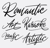 Romantische Handschriftskalligraphie Lizenzfreies Stockfoto