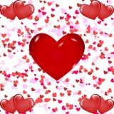 Romantische hartachtergrond royalty-vrije stock afbeelding