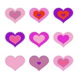 Romantische Herzen Lizenzfreie Stockfotos
