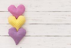 Romantische Herzgrenze für Muttertages- oder Valentinsgrußtageshintergrund Lizenzfreie Stockfotos