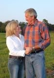 Romantische het Paar van het land Stock Foto