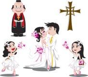Romantische Hochzeit lizenzfreie abbildung
