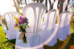 Romantische Hochzeitsdekoration im Freien Lizenzfreie Stockbilder