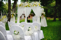 Romantische huwelijksceremonie Stock Foto's