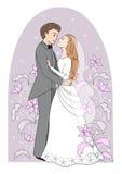 romantische huwelijkskaart Stock Fotografie