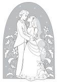 romantische huwelijkskaart Royalty-vrije Stock Afbeelding