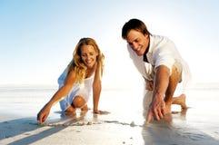 Romantische Innerpaare Lizenzfreie Stockfotografie