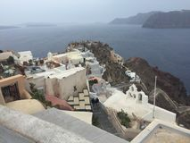 Romantische Insel Griechenland Santorini Lizenzfreie Stockfotografie