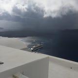 Romantische Insel Griechenland Santorini Stockfoto
