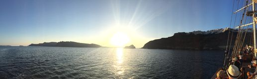 Romantische Insel Griechenland Santorini Stockfotos