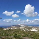 Romantische Insel Griechenland Santorini Stockbild
