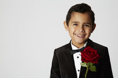 Romantische jongen, portret Stock Afbeelding