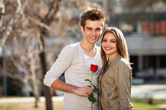 Romantische junge Geliebte Stockfoto
