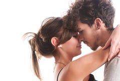 Romantische junge Paare Stockfoto