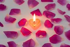 Romantische kaars royalty-vrije stock afbeelding