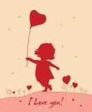 Romantische kaart Royalty-vrije Stock Afbeelding