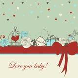 Romantische kaart Royalty-vrije Stock Foto's