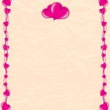 Romantische Karte Lizenzfreie Stockfotos