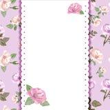 Romantische Karte mit Blumenhintergrund Stockfotos