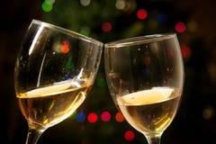 Romantische Kerstmis van de Toejuichingenwijn royalty-vrije stock afbeelding