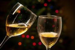 Romantische Kerstmis van de Toejuichingenwijn stock afbeelding