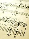 Romantische Klaviermusikkerbe Stockfotografie