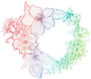Romantische kleurrijke bloemachtergrond Stock Afbeeldingen