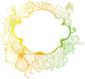 Romantische kleurrijke bloemachtergrond Royalty-vrije Stock Afbeeldingen
