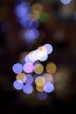 Romantische kleurrijke bokeh met zwarte achtergrond Stock Afbeelding