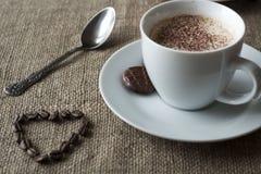 Romantische koffiepauze Stock Foto's
