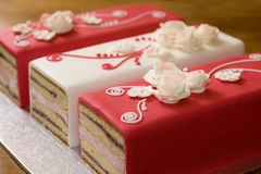 Romantische Kuchen Stockfotos