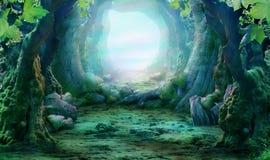 Romantische landcape royalty-vrije stock afbeelding