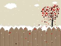 Romantische landschapsachtergrond Royalty-vrije Stock Foto