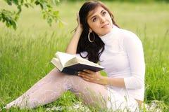 Romantische lezer Stock Afbeeldingen