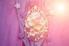Romantische Liefdeachtergrond Heldere zonnige uitstekend en modern (eigentijds) op dezelfde tijdachtergrond Royalty-vrije Stock Foto