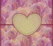 Romantische Liefdebrief. Valentine-achtergrond, EPS10 Stock Foto