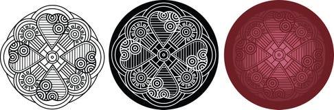 Romantische Mandala des Entwurfs mit Herzen für Malbuch Stockbilder