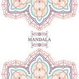 Romantische Mandala, rundes Spitzemuster Stockfotos