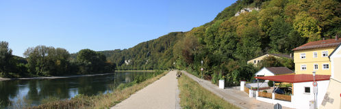 Romantische manier in Donau in Kelheim royalty-vrije stock foto