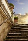 Romantische marmeren antieke ladder stock foto's