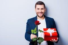 Romantische mens Royalty-vrije Stock Foto's